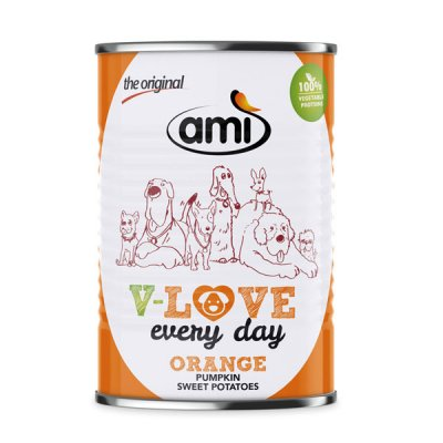 Ami Dog V-Love Orange veganes Hundefutter 400g
