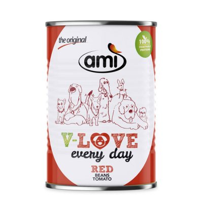 Ami Dog V-Love Red veganes Hundefutter