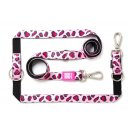 Max & Molly Multifunktionsleine Leopard Pink S