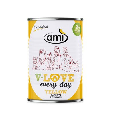 Ami Dog V-Love Yellow veganes Hundefutter