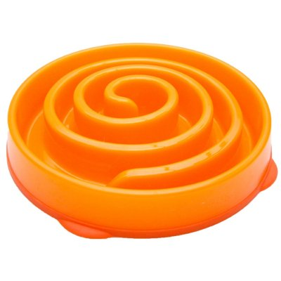Slo-Bowl Anti-Schling Napf Orange Large